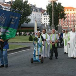 Procession du diocèse de Nice à Lourdes